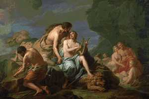 Chiron instructing Achilles in Music