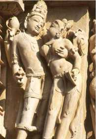Detail from Khajuraho