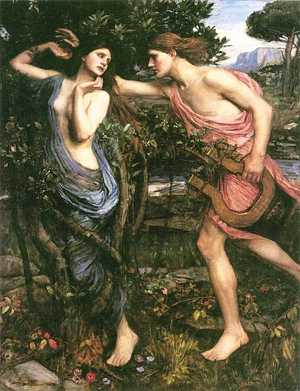 Apollo and Daphne, by JW Waterhouse