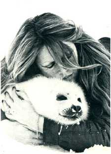 Brigitte Bardot: a famous 'Dog' with her Pup