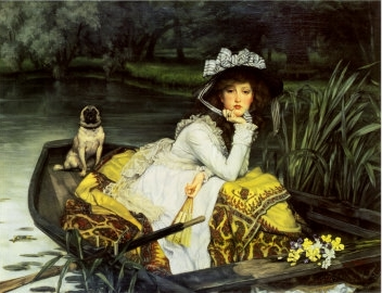Young Woman in a Boat, by James Tissot