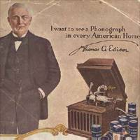 Edison with Phonograph