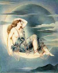 Luna, by Evelyn De Morgan