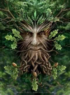 Oak King, by Ann Stokes