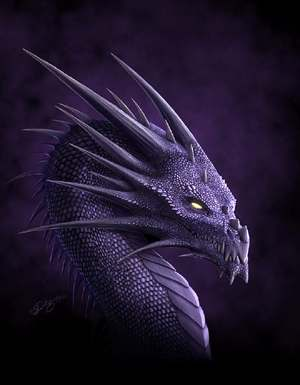 Purple Dragon, by Deligaris