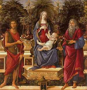 Virgin and Child between St John the Baptist and St John the Evangelist by Botticelli